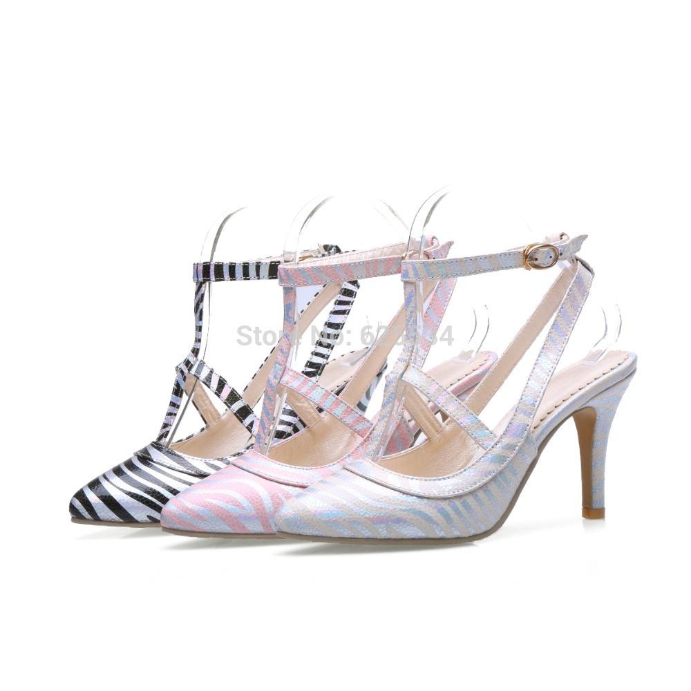 Pink Zebra Heels