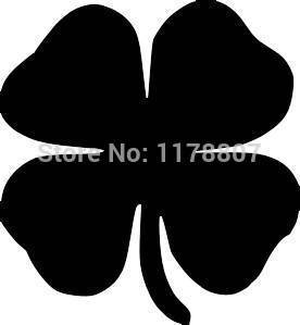 Four Leaf Clover For Car Rear Windshield Truck SUV Bumper Auto Door Laptop Kayak Canoe Art Wall Die Cut Vinyl Decal 8 Colors(China (Mainland))