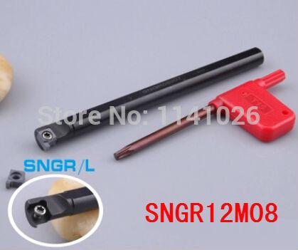 SNGR12M08 Internal Grooving Turning Lathe Boring Bar Tool Holder For Lathe Machine CNC Cutting Turning Tool Holder S12M-SNGR08(China (Mainland))
