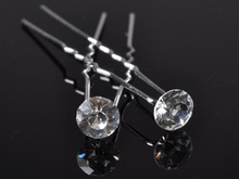 Lots 10pcs Fashion Wedding Bridal Hair Pin Clear Crystal Hairpin Clips For Women Jewelry Gift Wholesale