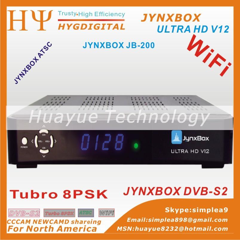5PCS/LOT quality 2015 new model JynxBox Ultra HD V12 fta hd receiver Jynxbox v10 plus fta satellite receiver hd north america(China (Mainland))