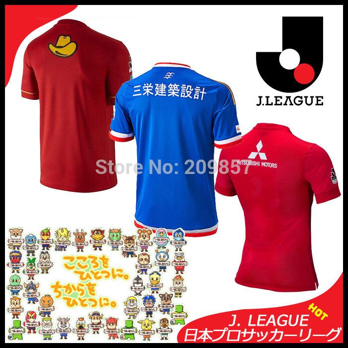 J.League Soccer Jersey 2015 3A+++ Make in Thailand Kashima Antlers Urawa Red Diamonds Yokohama F. Marinos Jersey Football Shirt(China (Mainland))