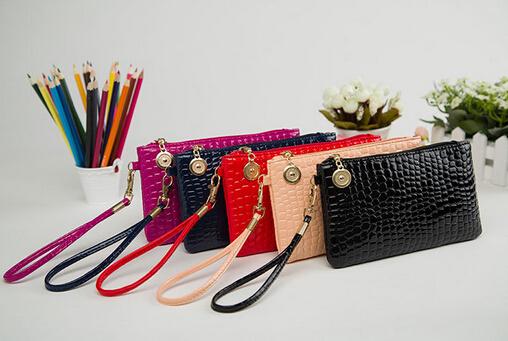 The new 2015 news angel brand handbag The European and American fashion The crocodile grain hand bag Soft light leather bag(China (Mainland))