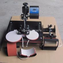 Discount New Design 5 In 1 Heat Transfer Machine Sublimation Heat Press Machine For Plate/Mug/Cap/TShirt /Phone case Etc