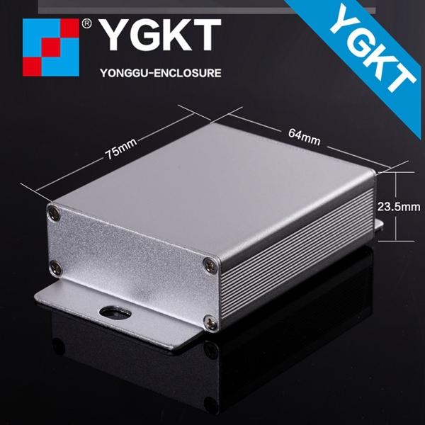 Cheap 10pcs 64*23.5*110/2.52''x0.93''x4.33''(wxhxl)mm custom aluminium electrical box, aluminium enclosure(China (Mainland))