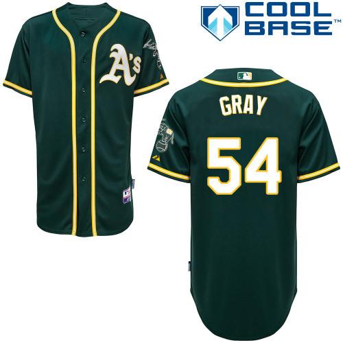 Free Shipping Customized Oakland Athletics Mens Jerseys #54 Sonny Gray Green Baseball Jersey 3320(China (Mainland))