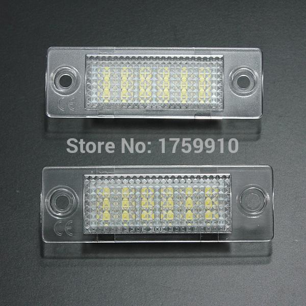 2x License Number Plate Light Lamp 18-LED For VW Caddy Transporter Passat Golf Touran Jetta For Skoda No Error(China (Mainland))