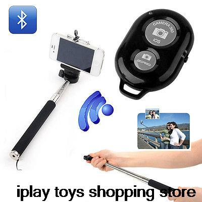 Selfie Bluetooth Shutter Remote Control + Extendable Monopod Stick Mobile Phone(China (Mainland))