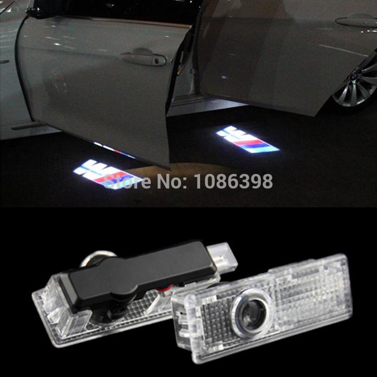 LED Door Warning Light With BMW M Logo Projector For BMW M E60 E90 F10 E63 E64 E65 E86 E89 E85 E91 E92 E93 F07 M5 E61 F01 F02 GT(China (Mainland))