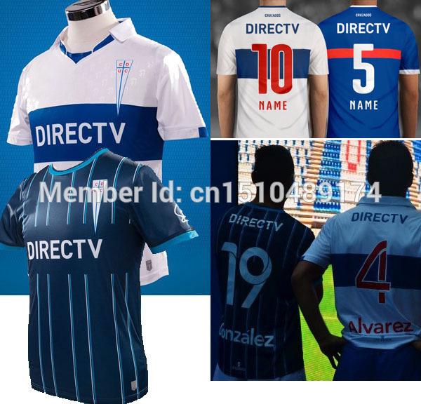 free shipping 15/16 Top AAA+++ chile Jersey Universidad Catolica home white away soccer jerseys(China (Mainland))