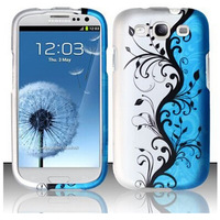 For Samsung Galaxy S3 GT-I9300 phone shell 2 in 1 Leopard Blue and Silver Design case for Samsung Galaxy S3 Neo free shipping