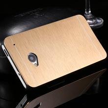 With Logo Gold Luxury Slim Hard Aluminum Metal Combo Case For HTC One M9 Dual Protective