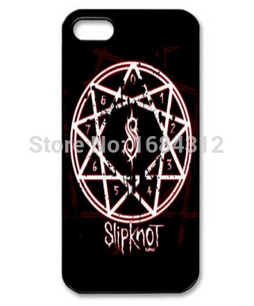 Venda quente Logo Slipknot banda rígido antidetonante Case capa durável para Apple iPhone 5 5S(China (Mainland))