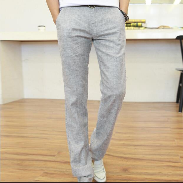 Mens Casual Linen Trousers Trousers Mens Pants Casual
