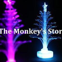 2015 new Fiber optic Christmas tree nightlight Colorful Night Light fantastic Christmas gift Xmas free shipping F0623(China (Mainland))