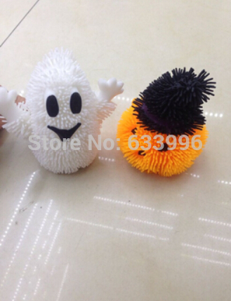 Factory Direct Flash Halloween Halloween ghost pumpkin toy plush ball(China (Mainland))