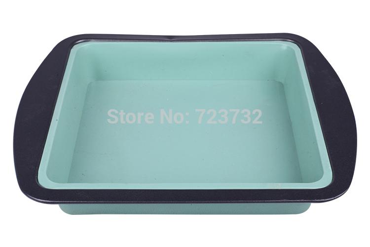 Diy baking tools Square silicone cake mold Microwave dish pizza pan 5pcs/lot(China (Mainland))