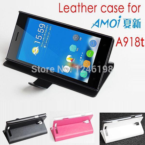 2015 лучшее качество Amoi A918t чехол магнитный нью-flip стенд PU кожаный для Amoi A918t телефон чехол бесплатная доставка цепочка