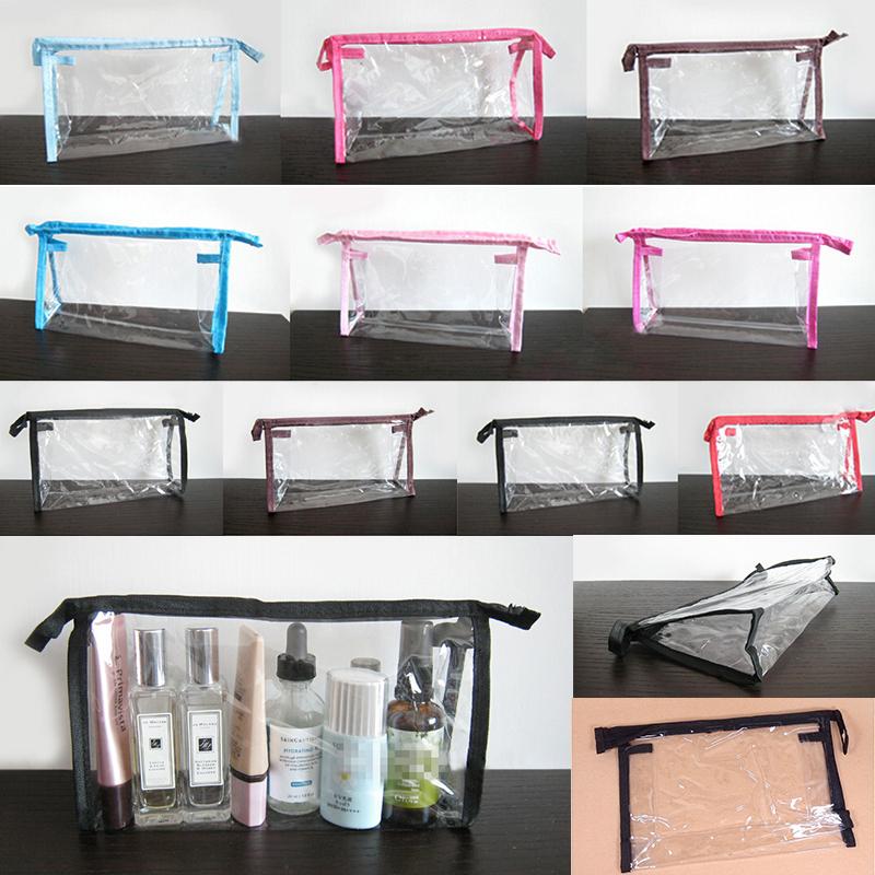 Fashion Make Up Bag PVC Clear Transparent Waterproof multifunctional cosmetic organizer Makeup Bags for women 2015(China (Mainland))