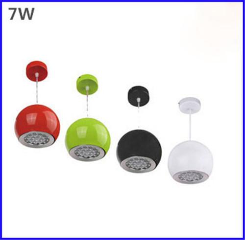 7W LED Droplight Apple Shape Light LED Pendant Lights AC85-265V Modern Pendant Lamp Beat Light for bar/dinning room/parlor(China (Mainland))