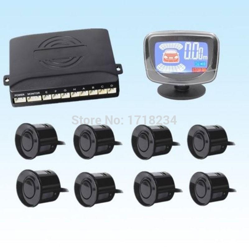 Factory Wholesale LCD Display Car Parking 8 Sensors Parktronic Electromagnetic Parking Sensor 8 Simple Car Parking System Safe(China (Mainland))