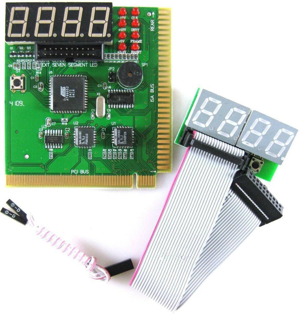 4 Digit PCI & ISA PC Computer Motherboard Analyzer Tester Diagnostic Debug POST Card/External Display(China (Mainland))