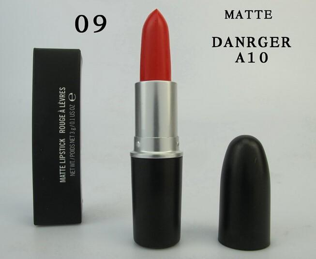 1 PCS Brand Makeup Matte DANGER/pink nouveau/cyber bright pink/ Lipstick 3G Red Lipstick Female Cosmetics Free shipping(China (Mainland))