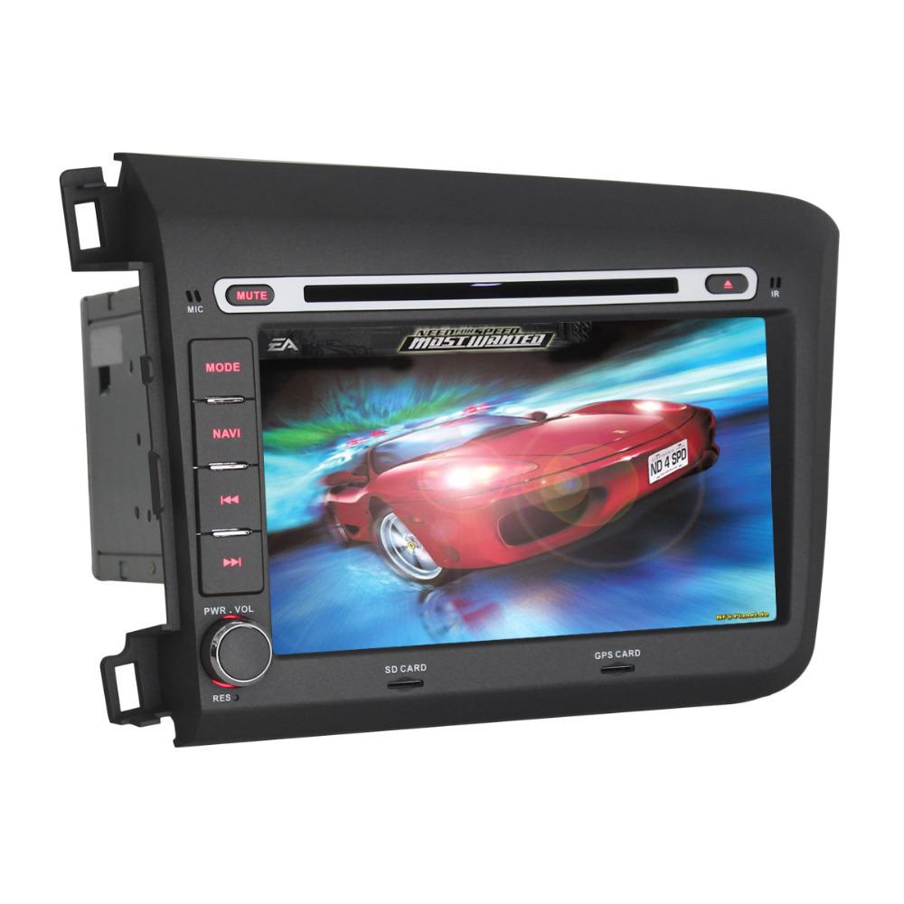 JOYOUS 8 Inch Car GPS Navigation DVD CD Player Radio Stereo For Honda Civic Seat Head Unit+Canbus(China (Mainland))