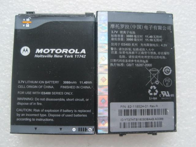 Original 3080mah Batteries For Motorola PDA ES400 Li-ion Rechargeable Battery Free Shipping(China (Mainland))