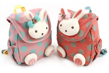 Животное дизайн дети мальчики девочки 3D милый кролик школа мешок анти-потерянный ...