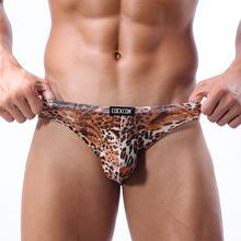 C0ckc0n Small Leopard Male Briefs Breathable Nylon U Thin Convex Bag. Andrew Christian Underwear Men Pant For Men  Jockstrap(China (Mainland))