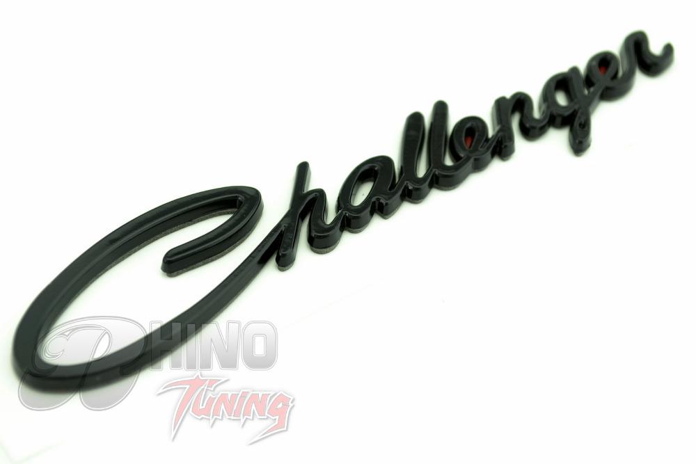 3D Black Challenger Car NAMEPLATE Emblem for 2008-2015 CHALLENGER Car Fender Badge Sticker 381bk(China (Mainland))