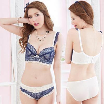 Free shipping Lace women's Bra & Brief Sets lady cotton Sexy push up bra set Gathered brassiere underwear lingerie set(China (Mainland))