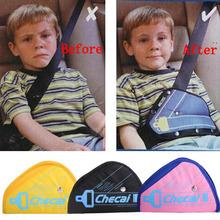 Safe Fit Thickening Car Safety Belt Adjuster Device Baby Child Safety Belt Protector Seat Belt Positioner 4colors