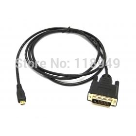100pcs/lot Micro HDMI to DVI Cable for HTC EVO 4G Moto Droid X XT800 & XOOM TF201 TF301 tab,Free shipping by FedEx(China (Mainland))