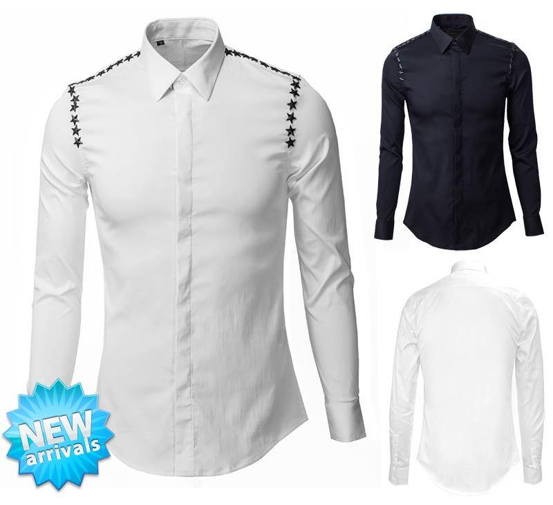 Мужская повседневная рубашка YD 2015 Slim Camisas YD-035 мужская повседневная рубашка other 2015 slim fit yd g812 anchors