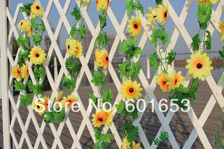 Artificial Sunflower Garland Flower Vine for DIY Home Wedding Floral Decoration(China (Mainland))