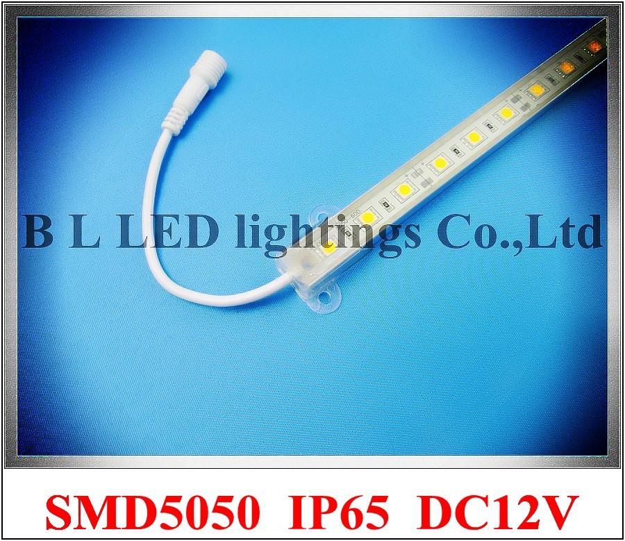 IP65 epoxy waterproof SMD 5050 LED rigid strip LED light bar cabinet light LED barlight hard strip 100cm SMD5050 60led 14W DC12V(China (Mainland))