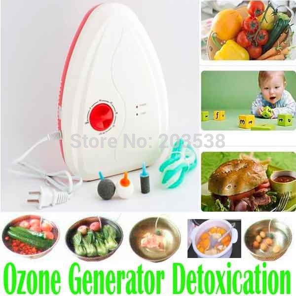 Portable Active Ozone Generator Sterilizer Air purifier Purification Fruit Vegetables water food Preparation ozonator ionizator(China (Mainland))