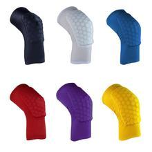2015 new arrival Honeycomb Pad Crashproof Antislip Basketball Leg Knee Long Protector knee pads top quality H0458(China (Mainland))