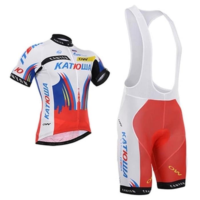 Katusha russia 2015 cycling clothing jersey short sleeve and bib shorts kits mountain bike tight ropa ciclismo MTB(China (Mainland))