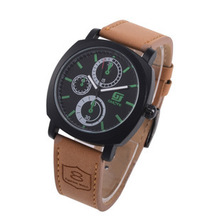 2015 Luxury Men Outdoor Sport Watches Brand Military Complete Calendar Cycling Relojes Male Corium Leather Strap Army Wristwatch