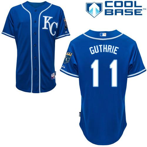 Free Shipping Customized Kansas City Royals Mens Jerseys #11 Jeremy Guthrie Blue Baseball Jersey 3738(China (Mainland))