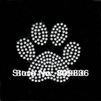 Bear's paw print design hot fix rhinestone, heat transfer design iron on motifs,applique,wholesale (ss-a2362)(China (Mainland))