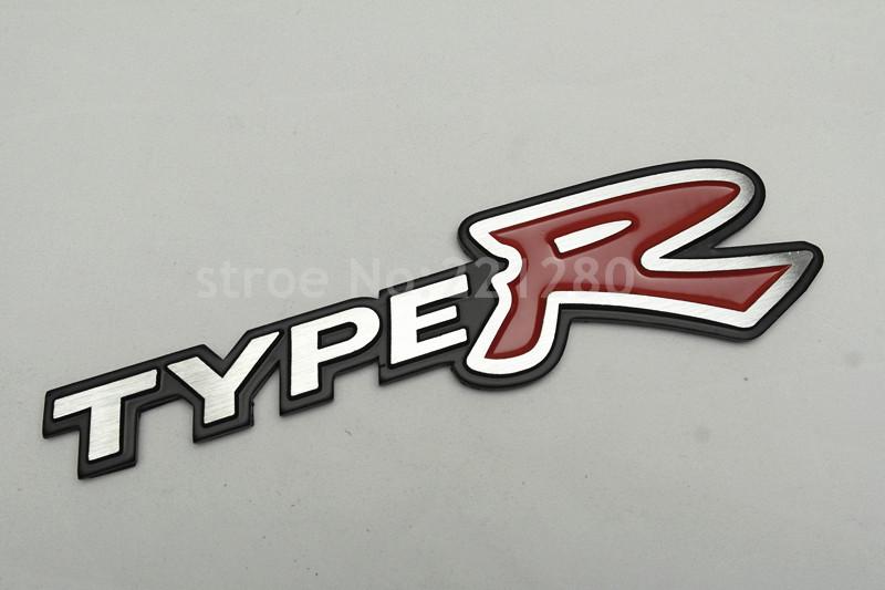 1Pcs New Aluminum Alloy TYRE R Luxury Car Vehicle Rear Trunk Lid Sticker Badge Emblem(China (Mainland))