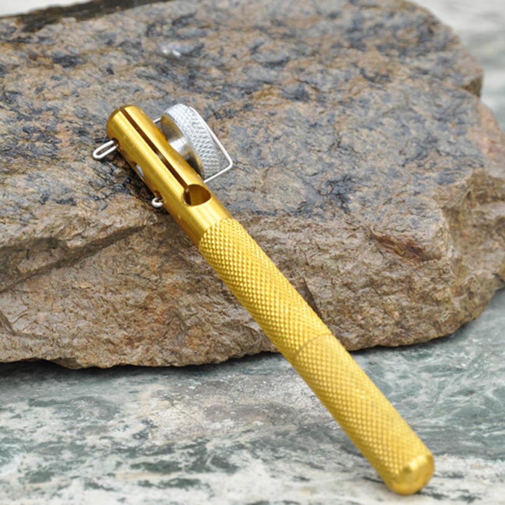 Aluminum Alloy Fishing Hook Tier Double headed Needle Knots Tie Fishing Line Knotter Fishhook Tie Device