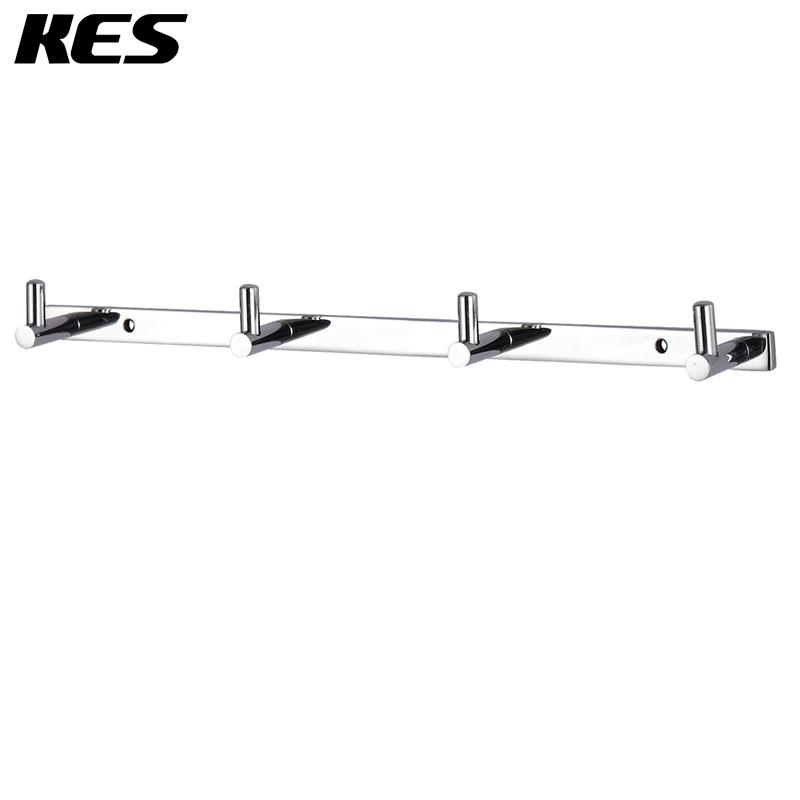 KES A2160C Bathroom Towel Rail/Rack with 4 Hooks Wall Mount, Polished Steel(China (Mainland))