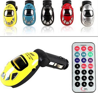 1Pcs Car Styling Car Kit MP3 Mucsic Player Wireless FM Transmitter Radio Modulator With USB SD MMC+ Remote Control OM(China (Mainland))