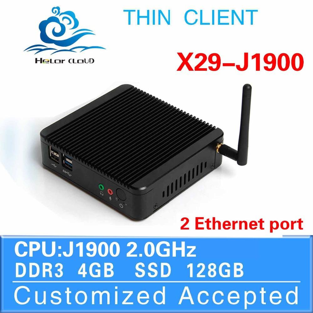 Hot Intel J1900 dual core 4gb Ram 128gb Ssd Mini Pc Thin Client Laptop Computer Linux Server Can Run Linux/Ubuntu/Window 7(China (Mainland))