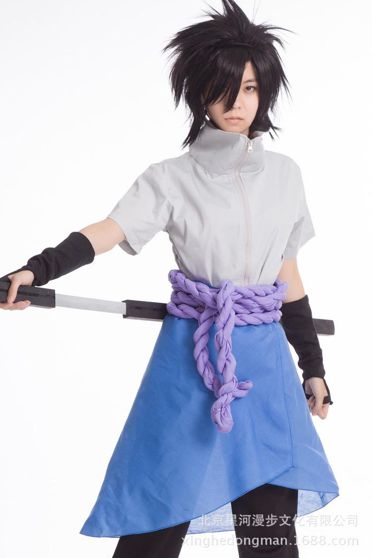 Sasuke Cosplay Costume From Naruto Shippuuden Anime(China (Mainland))